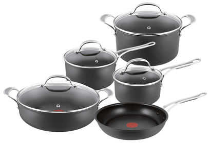 Jamie Oliver Non-Stick Black 4 Piece Pan Set